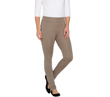 LOGO by Lori Goldstein Straight Leg Ponte Knit Pants