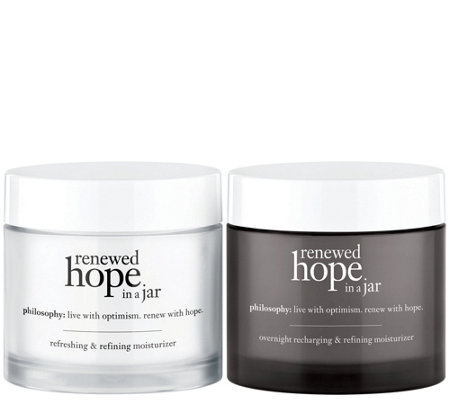philosophy renewed hope in a jar am/pm moisturizer duo