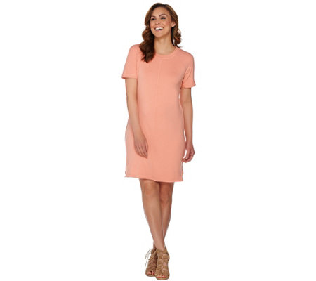 Isaac Mizrahi Live! SOHO Raglan Sleeve Knit T-shirt Dress