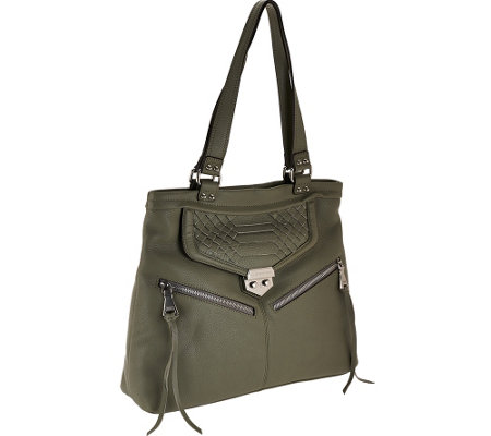 """As Is"" Aimee Kestenberg Pebble Leather Shopper - Byron"