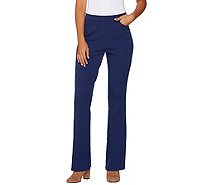 Isaac Mizrahi Live! Regular 24/7 Stretch Boot Cut Fly Front Pants - A279252