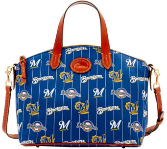 Dooney & Bourke MLB Nylon Brewers Small Satchel - A281752