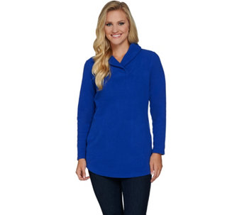 Denim & Co. Shawl Collar A Line Long Tunic with Pockets - A284552