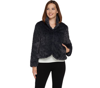 Dennis Basso Sterling Collection Faux Mink Short Jacket - A284852