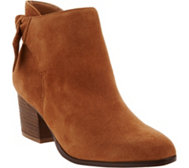 Sole Society Suede Tie-Back Ankle Boots - Binx