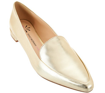 """As Is"" Isaac Mizrahi Live! Metallic Leather Loafers - A287952"
