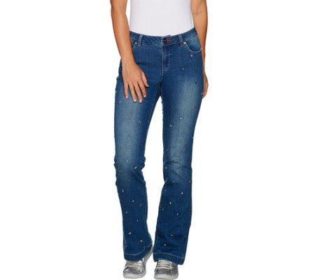 Peace Love World Studded Flare Denim Jeans