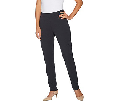 Lisa Rinna Collection California Crepe Knit Cargo Pants - A295952