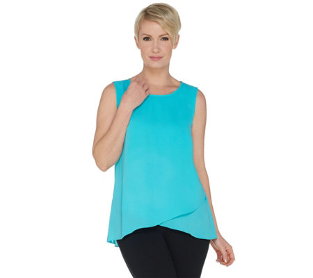 Joan Rivers Soft Crepe Scoop Neck Tank