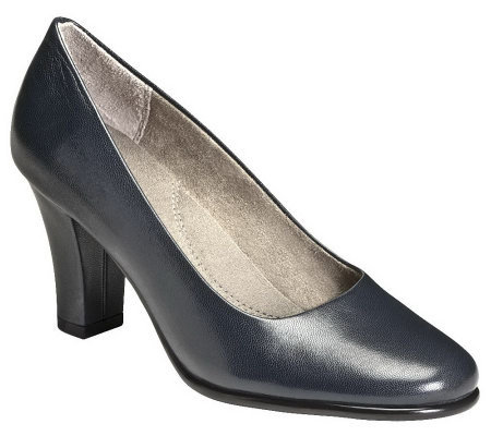 Aerosoles Heel Rest Leather Pumps - Dolled Up