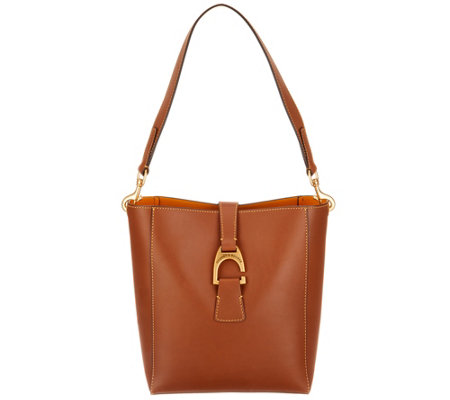 """As Is"" Dooney & Bourke Emerson Leather Shoulder Bucket Handbag-Brynn"