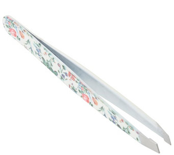 The Vintage Cosmetic Company Slanted Tweezers -Floral - A355652