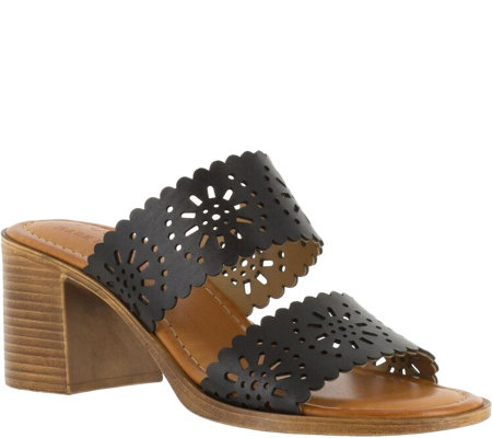 Tuscany by Easy Street Block Heel Two Strap Sandals - Susana