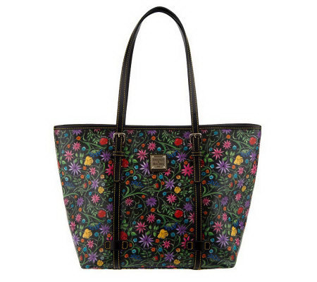 Dooney & Bourke Floral Coated Fabric East/West Shopper