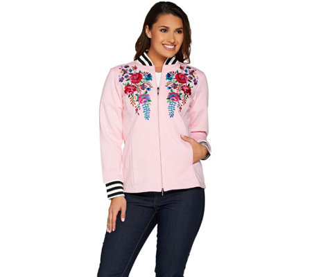 Linea Leisure by Louis Dell'Olio Embroidered Baseball Jacket