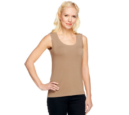 Linea by Louis Dell'Olio Rounded Neck Knit Tank