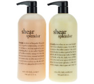 philosophy super size shear splendor shampoo & conditioner duo