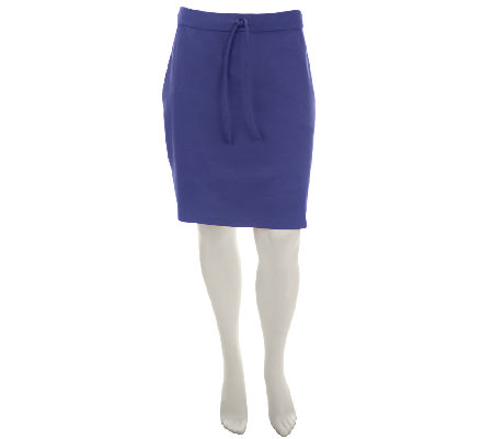 """As Is"" Liz Claiborne New York Pull-On Ponte Knit Skort"