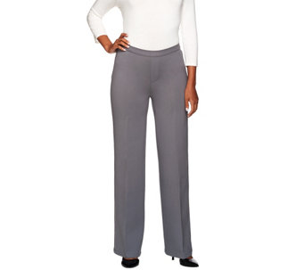 H by Halston Petite Ponte Knit Wide Leg Pants - A269553