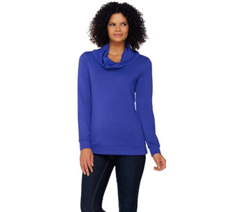 Isaac Mizrahi Live! SOHO Cowl Neck Knit Pullover - A270553