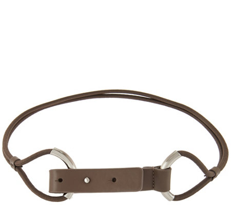 H by Halston Stretch Cord Belt with Pull Back Closure