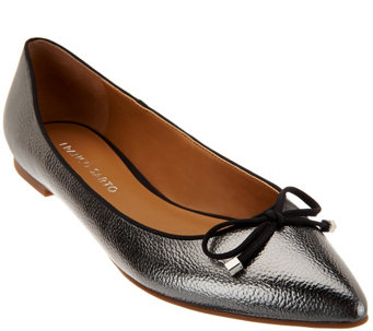 """As Is"" Franco Sarto Pointed Toe Flats with Bow Detail - Avice - A278653"