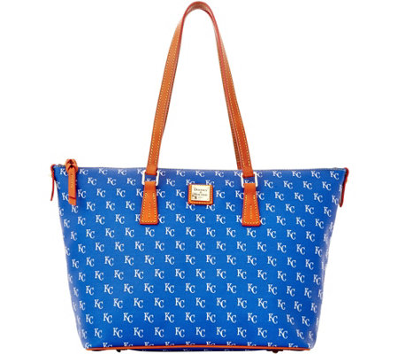Dooney & Bourke MLB Royals Zip Top Shopper