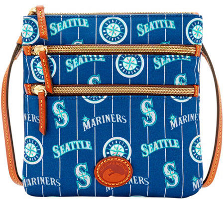 Dooney & Bourke MLB Nylon Mariners Triple Zip Crossbody