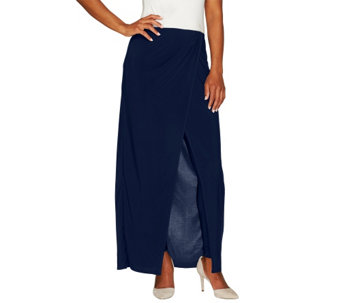 """As Is"" Attitudes by Renee Jersey Knit Sarong Skirt w/Legging - A291153"