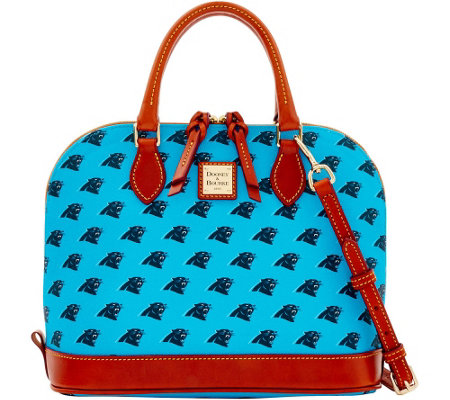 """As Is"" Dooney & Bourke NFL Panthers Zip Zip Satchel"