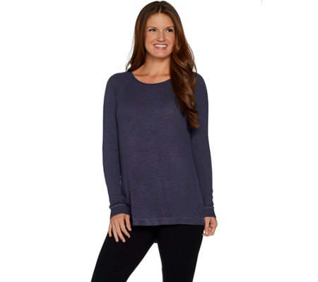 AnyBody Loungewear Brushed Hacci Relaxed Top