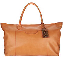 G.I.L.I. Italian Leather Oversized Tote Bag - A293053