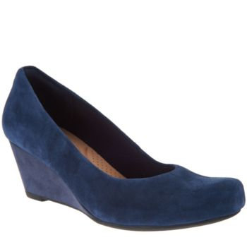 Clarks Leather or Suede Wedge Pumps - Flores Tulip