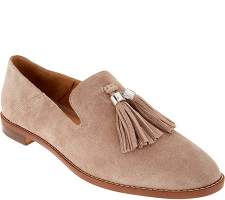 Franco Sarto Suede Loafers with Tassels - Hadden