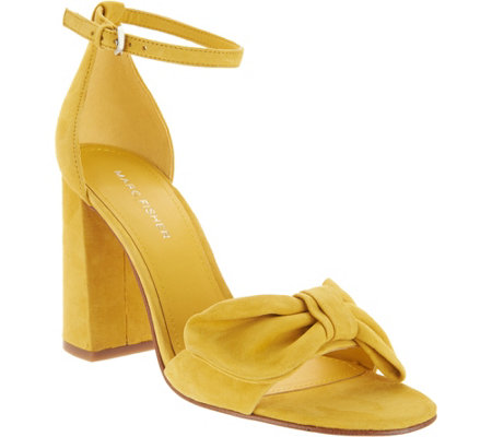 Marc Fisher Ankle Strap Bow Pumps - Malden