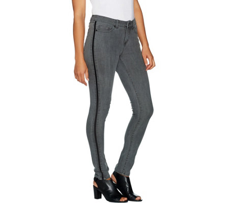 """As Is"" G.I.L.I. Tuxedo Stripe Jegging"