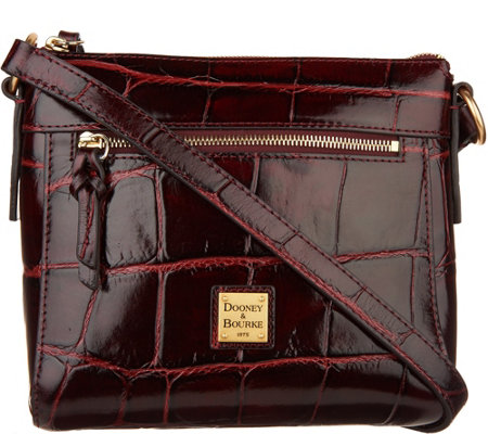 """As Is"" Dooney & Bourke Croco Leather Crossbody- Allison"