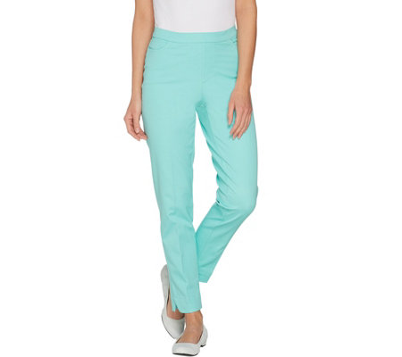 """As Is"" Isaac Mizrahi Live! Regular 24/7 Stretch Ankle Pants w/Pockets"
