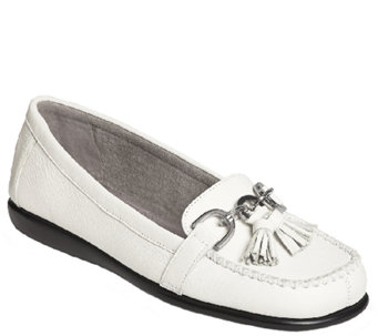 Aerosoles Stitch 'N Turn Leather Loafers - Super Soft - A334153