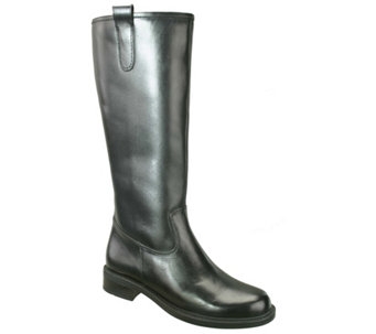 David Tate Extra-Wide-Calf Tall Leather Boots -Best 20 - A334753