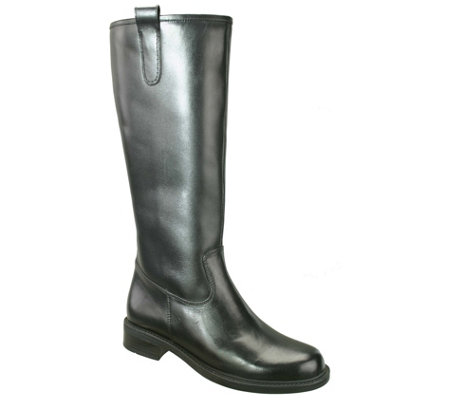 David Tate Extra-Wide-Calf Tall Leather Boots -Best 20