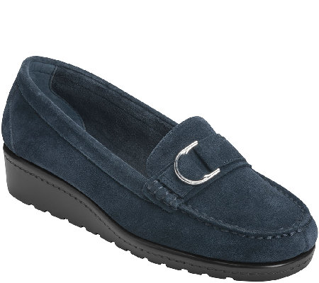 Aerosoles Stitch N Turn Leather Loafers - Parisian