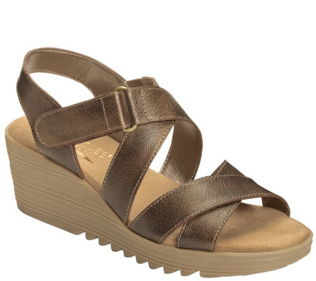 Aerosoles Heel Rest Platform Wedge Sandals - Handbog