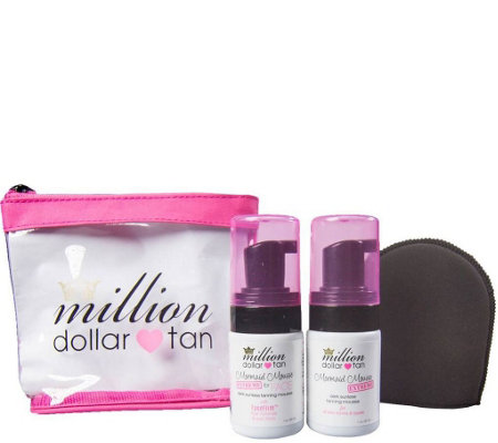 Million Dollar Tan Mermaid Mousse Extreme Travel Set