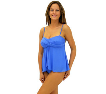 Fit 4 Ur Tummy Flared Twist Bandeau Top - A340753