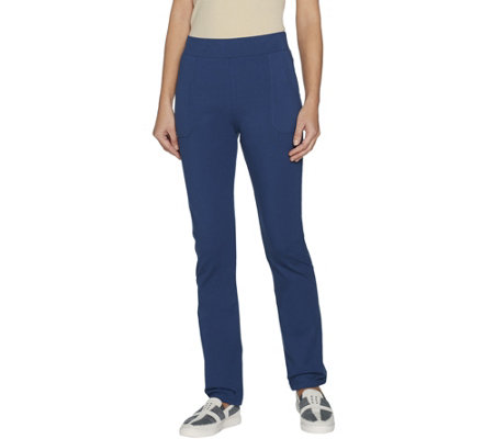 """As Is"" LOGO by Lori Goldstein Petite Pull-On Pants with Pockets"