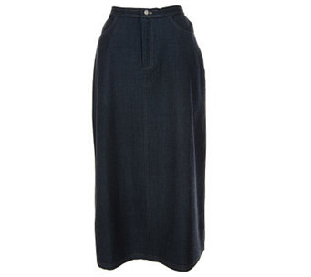 Dialogue Refined Stretch Twill Tru-Waist Trouser Skirt - A6053