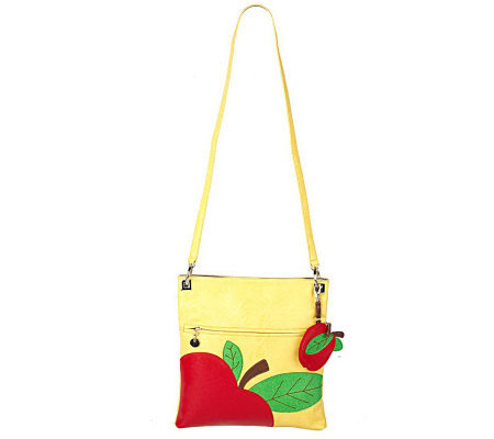 Maxx New York Fruit Design Lizard Embossed Crossbody Bag
