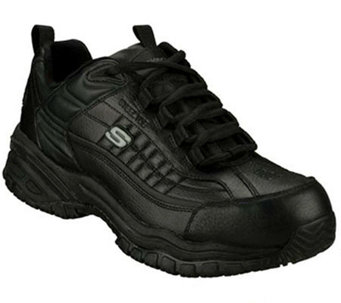 Skechers Men's Soft Stride Steel Toe SlipResistant Shoes - A185754