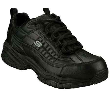 Skechers Men's Soft Stride Steel Toe SlipResistant Shoes